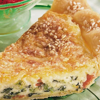 Dotted Swiss and Spinach Quiche.