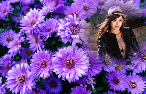 Purple Flowers Photo Frames Screenshot Thumbnail
