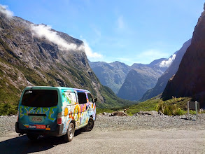 Photo: The drive out of Milford Sound