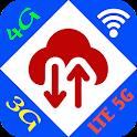 Velocità di rete WiFi/3G/4G/5G icon