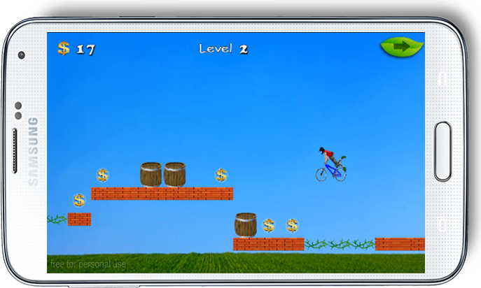 android The Rich Bicyclist Adventure Screenshot 5