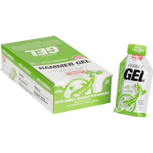Hammer Nutrition Hammer Gel: Apple-Cinnamon, 24 Single Serving Packets