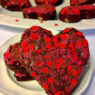 Adorable Heart Shaped Brownies.
