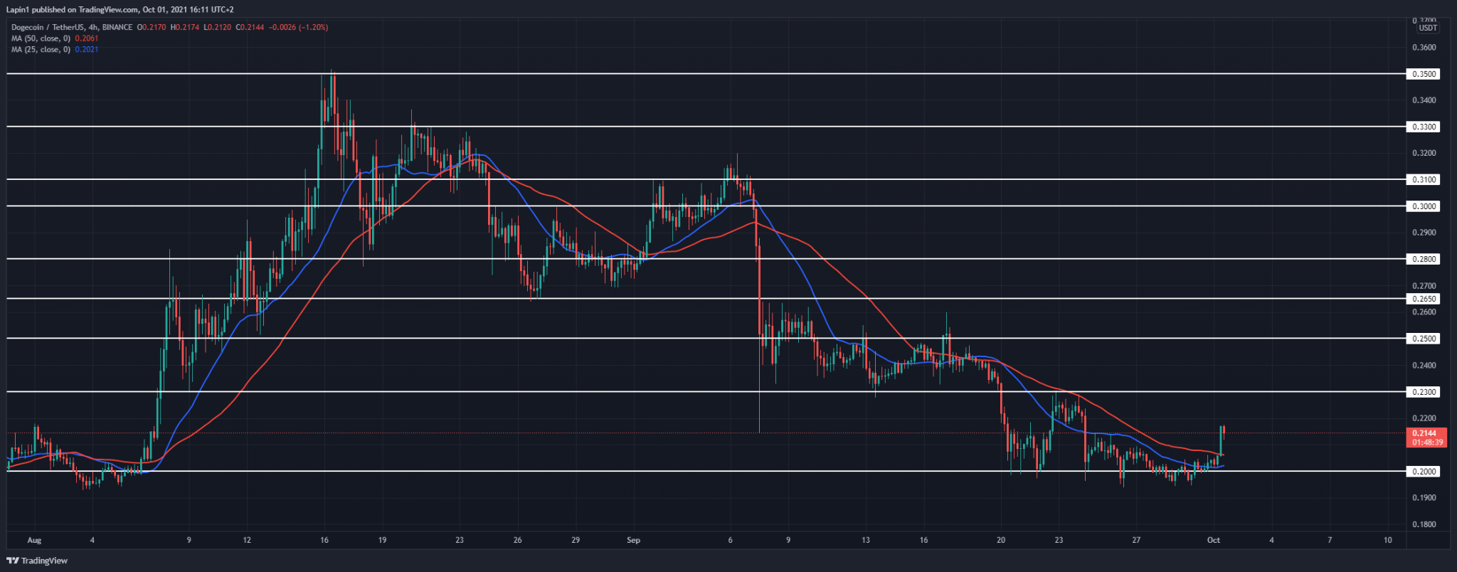 Dogecoin Price Analysis: DOGE rebounds from $0.20 support, further upside to follow?