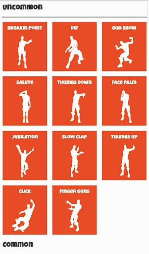 All Fortnite Dances Fortnite Emotes Dance Move Apk Download