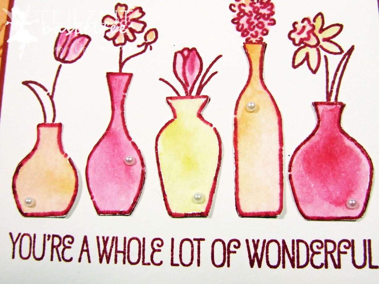 Stampin' Up! - IN{K}SPIRE_me Color Challenge #347, Embossing Folder, Vivid Vases, Aquarell