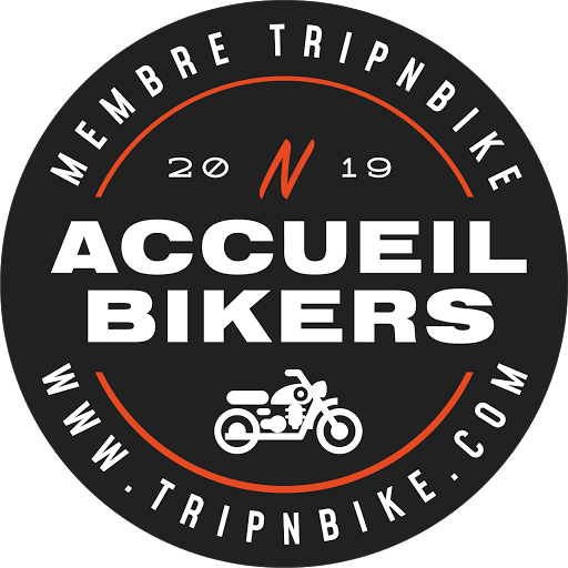 logo trip and bike accueil bikers motards bienvenus au clos de la garenne