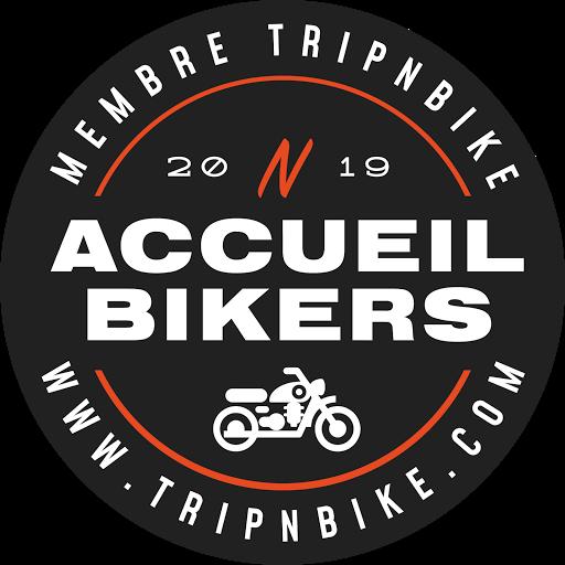 logo trip and bike accueil bikers motards bienvenus au clos de la garenne