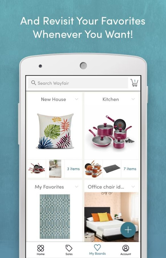 Wayfair shop everything home android apps on google play for Wayfair store