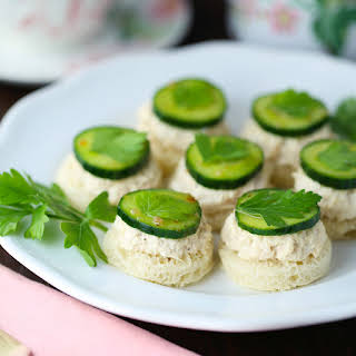Tuna Cucumber Tea Sandwiches.