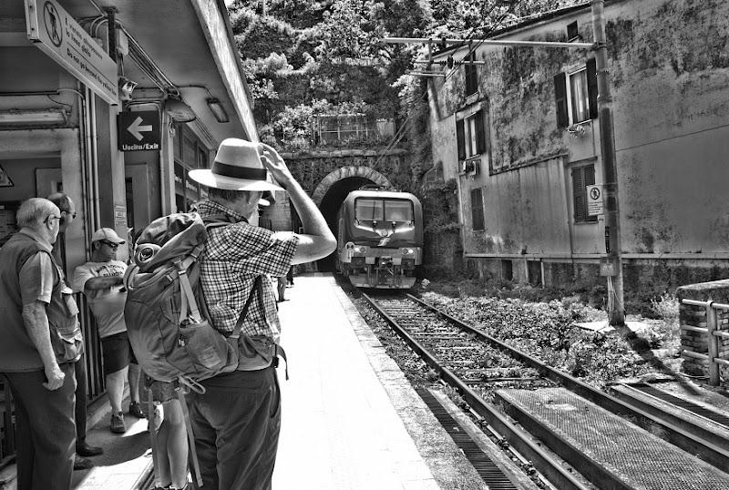 un saluto al treno in arrivo... di Francesco Di Maio