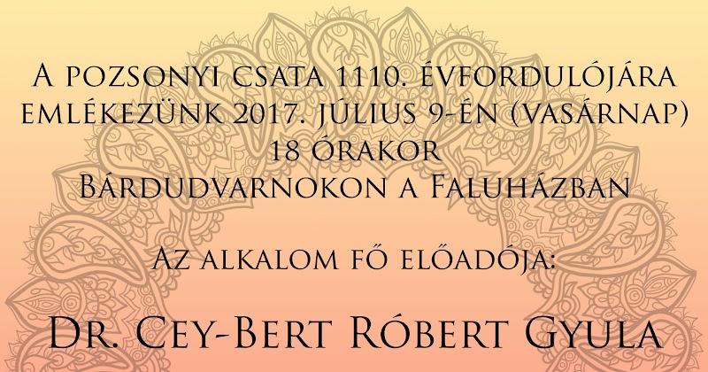 A Pozsonyi csata 1110. évfordulója - Előadás Bárdudvarnokon 2017.07.09