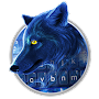 Blue Flaming Wolf Keyboard Theme APK icon