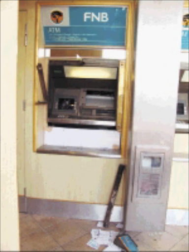 VANDAL: An ATM damaged at the Thulamahashe shopping complex near Bushbuckridge. Pic: LAZARUS MNISI. © Sowetan.