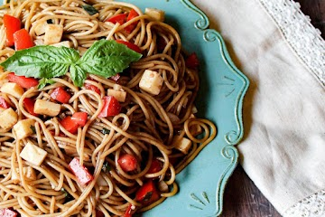 Spaghetti Salad With Balsamic And Basil Dressing Recipe