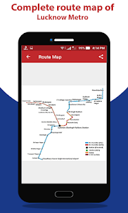 Lucknow Metro Map.Lucknow Metro Route Map Fare Apps On Google Play