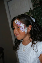 Photo: First Communion face paint by Bella the Clown in Grand Terrace, Ca Call to book Bella today at 888-750-7024