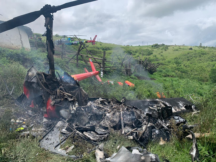 A pilot died in a helicopter crash in Eshowe on the KwaZulu-Natal north coast on Thursday afternoon.