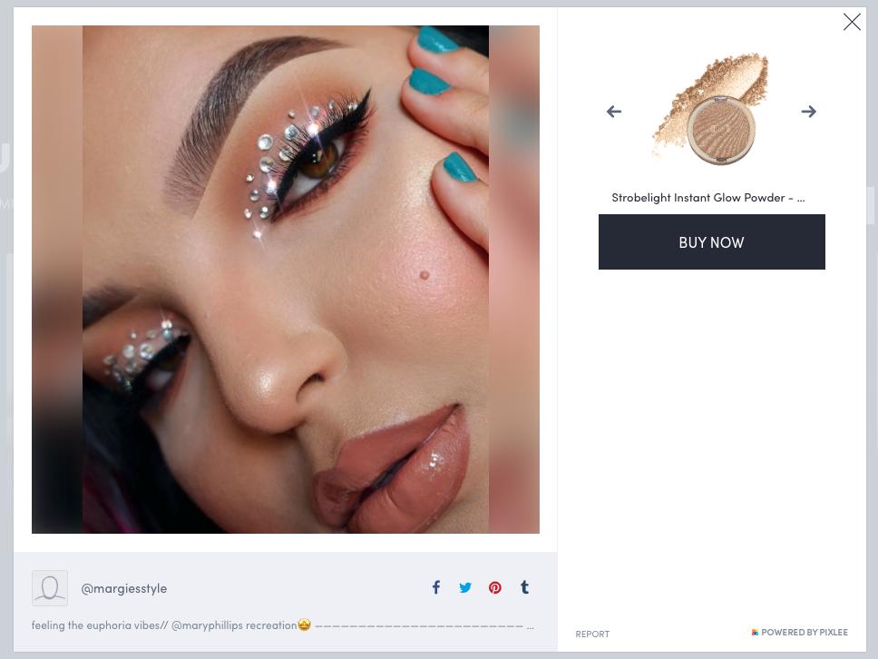 Milani Cosmetics zeigt einen Post einer Influencerin, die ihre Produkte verwendet.
