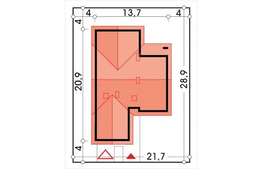 Ambrozja 2 wersja D z poddaszem do adaptacji z  podwójnym garażem - Sytuacja