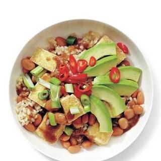 Tofu and Avocado Rice Bowl Recipe
