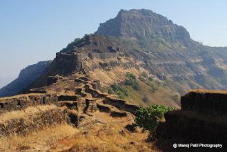 Photo: Rajgad Balle Killa from Sanjivani Machi