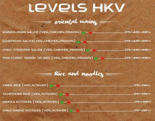 Menu 19 - Levels HKV, Hauz Khas Village, New Delhi