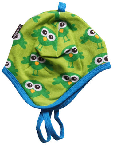 Maxomorra Baby Mössa Bird Green