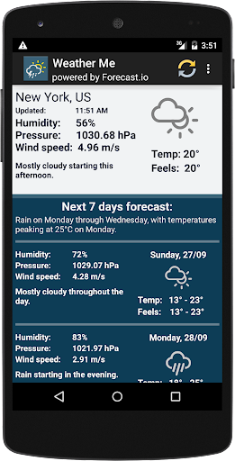 Weather forecast for week 2.5 screenshots 4