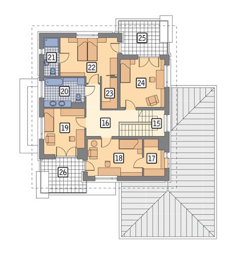Poranna rosa - wariant I - M117a - Rzut piętra