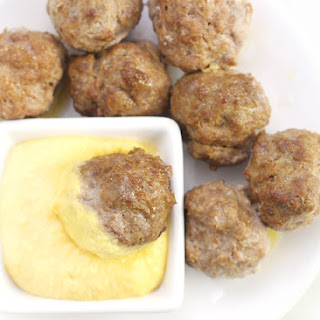 Rosemary Squash Meatballs with Squash Puree