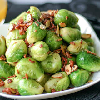 Brussel Sprouts with Bacon and Almonds