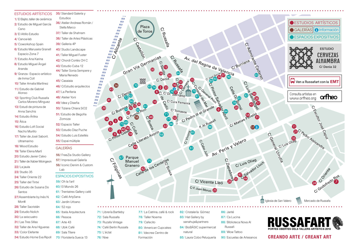 Russafart 2018 -  start with this map, available here
