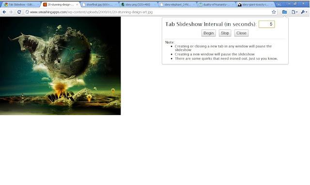 tab slideshow chrome web store