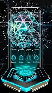 3D neon tech ball theme - náhled