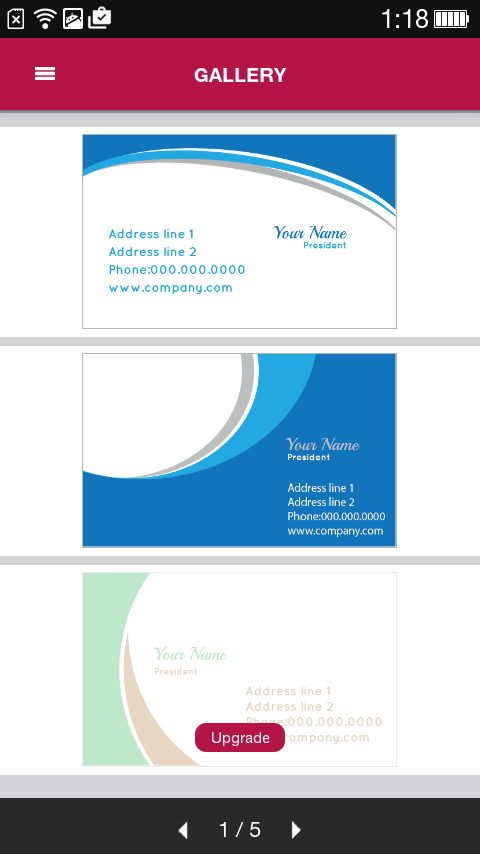Free business card maker android apps on google play free business card maker screenshot reheart Gallery