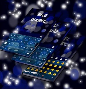 Blue Bubble Keyboard Skin for PC-Windows 7,8,10 and Mac apk screenshot 2