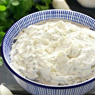 Easy Homemade Herb and Garlic Cream Cheese.