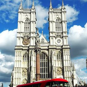 London Bus by Edwin Pfim - Transportation Roads