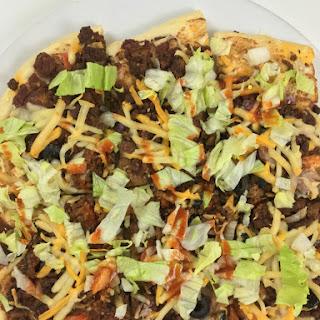 Taco Pizza with Homemade Dough.