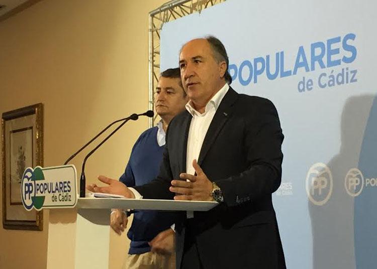 Landaluce califica a los presupuestos de Sánchez como irreales, injustos e insuficientes para el futuro del Campo de Gibraltar