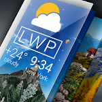 Weather Live Wallpaper. Current forecast on screen 1.40 (Pro)