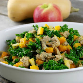 Butternut Squash and Apple Hash with Sausage.