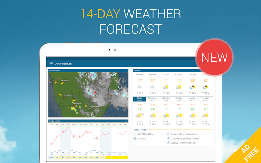 Weather & Radar Pro - Ad-Free app for Android screenshot