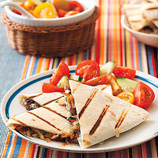 Caramelized Onion and Blue Cheese Quesadillas