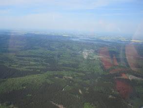 Photo: Hier seht Ihr das Gebiet, das wir heute schon durchfahren haben - im Hintergrund der Möhnesee