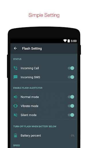 Flash Alerts on Call and SMS 2.33 screenshots 2