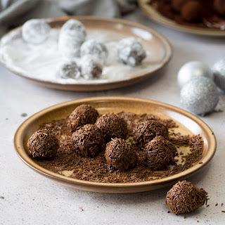 Black Forest Style Chocolate Ganache Truffles