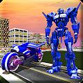 Real Moto Robot Transform: Flying Bike Robot Wars download