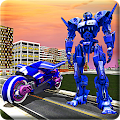 Real Moto Robot Transform: Flying Bike Robot Wars APK